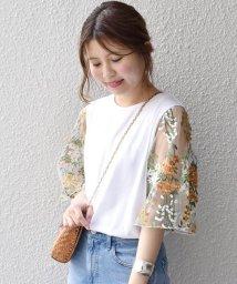 Khaju/【WEB限定】Khaju:チュールスリーブTシャツ/500966273