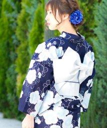 Dita/Dita【ディータ】1人で簡単に着られる作り帯の可愛い女性浴衣 4点フルセット(ゆかた・作り帯・下駄・着付けカタログ)/500969452