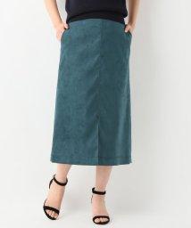 SLOBE IENA/スエード ミモレタイトスカート/500969658