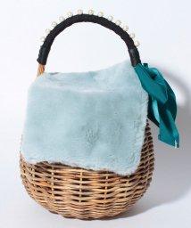 LANVIN en Bleu(BAG)/イネス ファー付きカゴバッグ/LB0005083