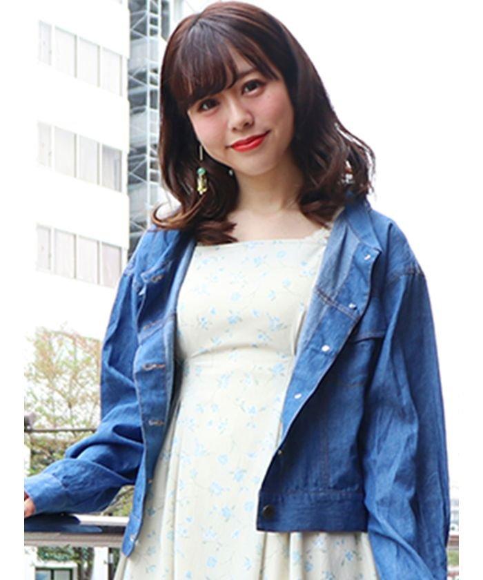 ダズリンシャツGジャンレディースブルーF【dazzlin】