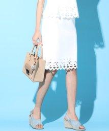 Viaggio Blu/【セットアップ対応】レーザーカットパンチングスカート/500970011