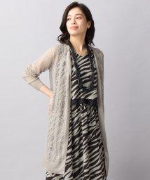 Leilian/透かし柄編みカーディガン/500908585