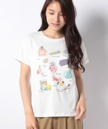 Afternoon Tea LIVING/水彩モチーフ柄Tシャツ/500927318