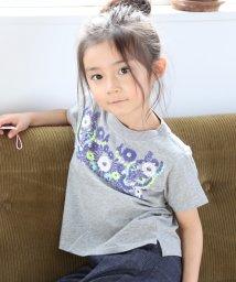 coen/【coen キッズ / ジュニア】フラワーエンブロイダリー(お花刺繍)Tシャツ(100~150cm)/500957501