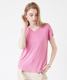 titivate/VネックなめらかTシャツ/500971342