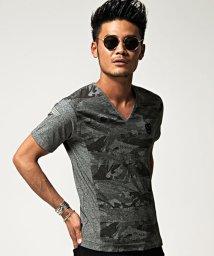 VIOLA/VIOLA【ヴィオラ】総柄プリントVネック半袖Tシャツ/500973851