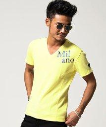 VIOLA/VIOLA【ヴィオラ】プリント入りパイピングVネック半袖Tシャツ/500973852