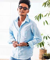 CavariA/CavariA【キャバリア】ピース染めオープンカラー長袖ローンシャツ/500973853