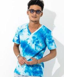 CavariA/CavariA【キャバリア】タイダイ染め加工テレコVネック半袖Tシャツ/500973857