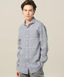 EDIFICE/Albini / アルビニ Pattern Linen カッタウェイシャツ/500974027