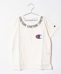 Lovetoxic/Championコラボ衿ロゴ入り胸ポケットつきTシャツ/500957975