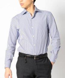 SHIPS MEN/SD: 【ALBINI社製生地】 ロンドンストライプ ワイドカラーシャツ(ネイビー)/500975412