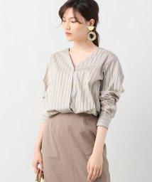 journal standard  L'essage /ストライプノーカラーシャツ/500976271
