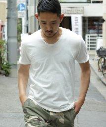 BEAMS MEN/BEAMS / 天竺 カットオフ Uネック Tシャツ/500900250