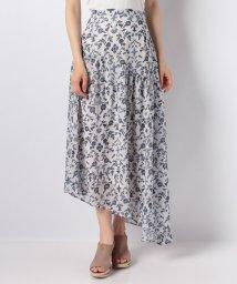 Avan Lily/オリエンタルフラワーアシメ切替スカート/500965006