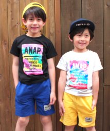 ANAP KIDS/タイダイBOXプリントTシャツ/500968263