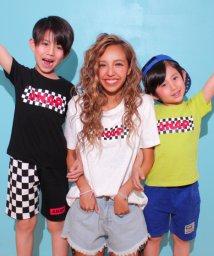 ANAP KIDS/チェッカー柄ロゴTシャツ/500968267