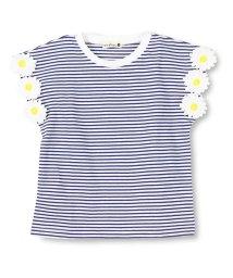branshes/袖フラワーモチーフTシャツ/500975506