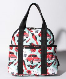 LeSportsac/DOUBLE TROUBLE BACKPACK レッドアンドブラック/LS0020150