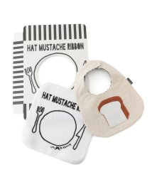 Adam et Rope Le Magasin/【HAT MUSTACHE RIBBON】アップリケビブギフトセット/500918085