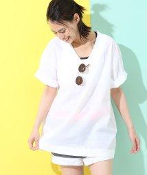 NERGY/ペーパー天竺VネックTシャツ/500974490