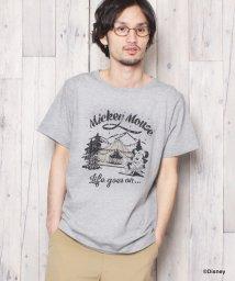 grn/MICKEYキャンププリントTシャツ/500978107