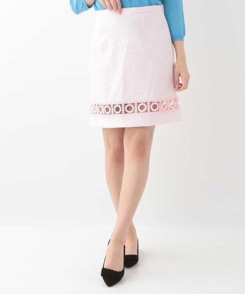 Tara Jarmon(タラ ジャーモン)/レース切り替えセミフレアスカート IMPORTED/VZHGD20360