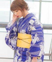 Dita/Dita【ディータ】1人で簡単に着られる作り帯の可愛い女性浴衣 4点フルセット(ゆかた・作り帯・下駄・着付けカタログ)/500979426