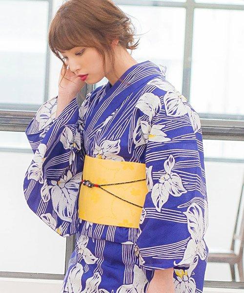 Dita(ディータ)/Dita【ディータ】1人で簡単に着られる作り帯の可愛い女性浴衣 4点フルセット(ゆかた・作り帯・下駄・着付けカタログ)/dl-2018enshu1