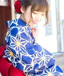 Dita/Dita【ディータ】1人で簡単に着られる作り帯の可愛い女性浴衣 4点フルセット(ゆかた・作り帯・下駄・着付けカタログ)9:生成り色地に桜ロマン/500979427