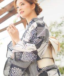 Dita/Dita【ディータ】1人で簡単に着られる作り帯の可愛い女性浴衣 4点フルセット(ゆかた・作り帯・下駄・着付けカタログ)/500979428
