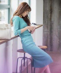 MISCH MASCH/【美人百花6・5月号掲載】ニットタイトスカート/500830067