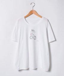 Leilian PLUS HOUSE/【19+】プリントTシャツ/500908693