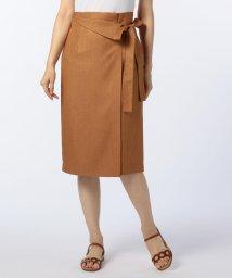 NOLLEY'S sophi/麻調ツイルリボンラップスカート/500969915