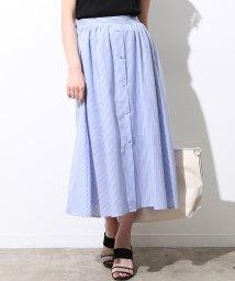 ViS/【防シワ】前釦カラミ織りスカート/500980886