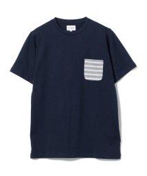 BEAMS MEN/BEAMS / 天竺 ボーダーポケット クルーネック Tシャツ/500859069