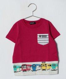 kladskap/ミニポケットつき電車柄Tシャツ/500975058