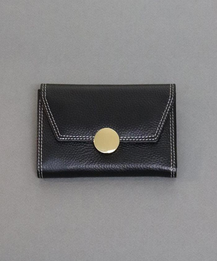 ニノンサークルチャーム2つ折り財布/ウォレットレディースブラックワンサイズ【ninon】
