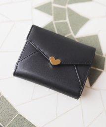 ninon/【牛革】シンプルハートチャーム二つ折り財布/ウォレット/500982331