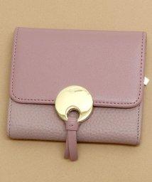 ninon/【牛革】サークルプレート二つ折り財布/ウォレット/500982365