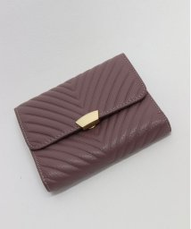ninon/【牛革】V字型押し二つ折り財布/500982368