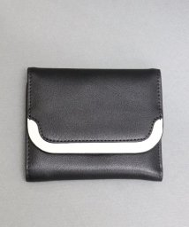 ninon/【牛革】配色フラップ二つ折り財布/500982369
