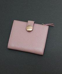 ninon/【牛革】BIGドットボタン二つ折り財布/500982373