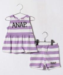 ANAP KIDS/リボン付きボーダーSETUP/500982566