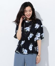 J.PRESS LADIES(LARGE SIZE)/【洗える】Vintage Floral Print ブラウス/500985745