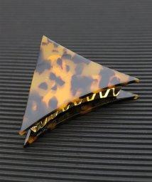 ninon/アセチ べっ甲柄 三角ヘアクリップ/500986420