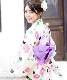 Dita/Dita【ディータ】1人で簡単に着られる作り帯の可愛い女性浴衣 4点フルセット(ゆかた・作り帯・下駄・着付けカタログ)/500870497