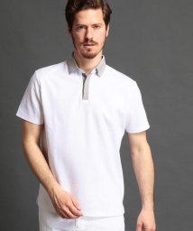 MONSIEUR NICOLE/襟切り替えポロシャツ/500904646