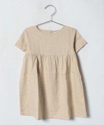 LAGOM/麻レーヨン半袖ワンピース/500958261